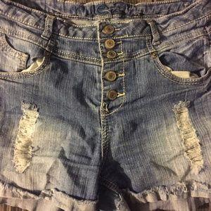 RUE 21 High Waisted Jean Shorts